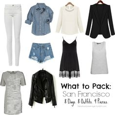 Fabulously Average, What to Pack: San Francisco - 8 days, 8 outfits, 9 pieces