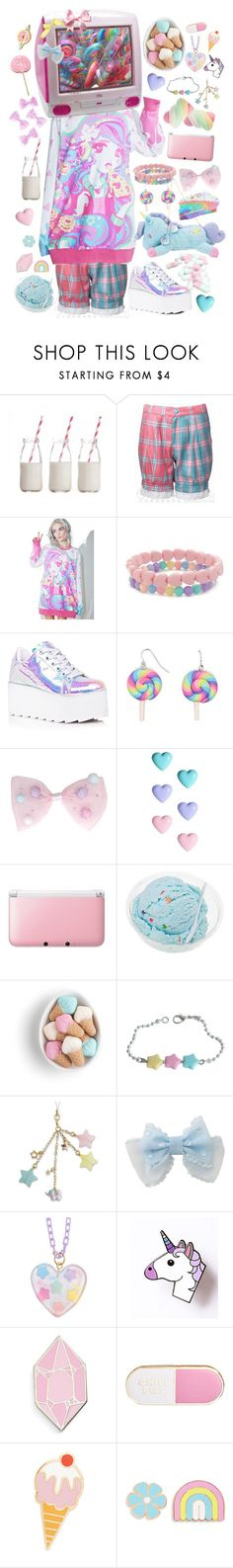"""""""sweet enough?"""" by pastellilapsi ❤ liked on Polyvore featuring Dress My Cupcake, KING, Japan L.A., Forever 21, Y.R.U., River Island, Nintendo, Meadham Kirchhoff, Big Bud Press and ban.do"""