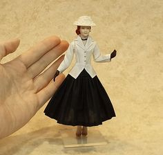 Miniature Dollhouse Doll in 1:12 Scale/1940's by LillisLittles