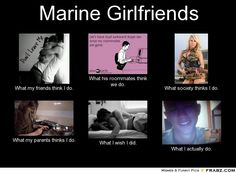Marine girlfriends cant describe how true this is. Miss him everyday. Usmc Love, Marine Love, Military Love, Romantic Love Quotes, Love Quotes For Him, Military Girlfriend, Marine Girlfriend Quotes, Marine Boyfriend, Girlfriend Gift