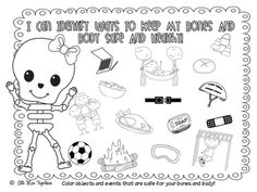 Coloring pages healthy strong ~ 16 Best Kindergarten healthy bodies images | Kindergarten ...