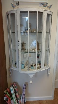 Our jewellery cabinet, love it's new position on the wall!