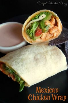 Mexican Chicken Wraps - a quick and tasty recipe that can be put together with what you have on hand! #quicklunch #allyou
