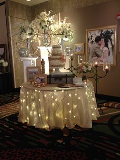 Cake table with lights