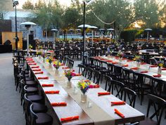 Outdoor Events | Rustic Dining with Family-Style Tables