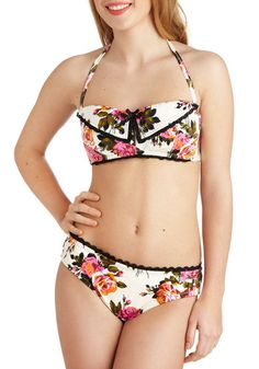 Too cute. I want!!!! Betsey Johnson View From the Topiary Swimsuit Top, #ModCloth