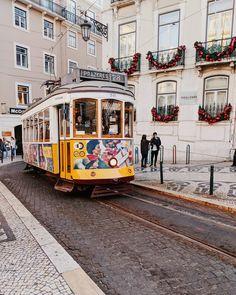 Lisbon tram at Chiado #lisbon #portugal #tram