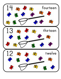 Here's a nice set of butterfly number cards from 0-25.