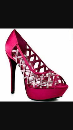 Dark pink heels
