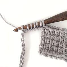 Tunisian Stitch How to Use the Tunisian Entrelac Crochet Method Crochet Afghans, Tunisian Crochet Blanket, Tunisian Crochet Patterns, Crochet For Beginners Blanket, Crochet Patterns For Beginners, Knitting Tutorials, Crochet Granny, Knitting Patterns, Knitting For Beginners
