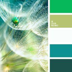 blanco, celeste, celeste y verde, color verde azulado, color verde jade, color verde jade vivo, color verde oliva claro, color verde pantano claro, color verde pino, esmeralda, oliva, paletas de diseño, selección de colores para el diseño.