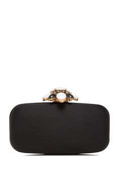 Shop Embellished Satin Clutch by Oscar de la Renta Now Available on Moda Operandi