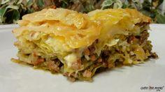 CABBAGE LASAGNA Delicious version of lasagna. No carbs, made with olive oil.