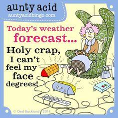 Hate Winter!  aunty acid