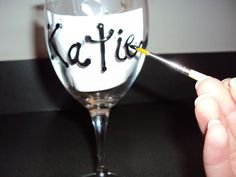 Handpainted Wine Glasses (lolita who?!) | Weddingbee DIY Projects