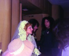 1976 - Ace Frehley's wedding. Jeanette Frehley, Ace and Gene.