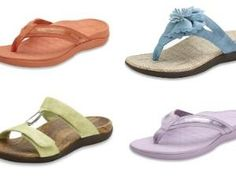 """Cute sandals, and good for your feet. The """"Orthaheel"""" line has the only sandals recommended by the American Podiatric Medical Association (APMA) The sandals shown run around $75. OrthaheelUSA to see more Orthopedic Shoes, Cute Sandals, Medical, Weight Loss, Exercise, Ankle, Tips, Women, Fashion"""
