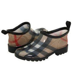 Burberry Boots for Women | Burberry Ankle Rain Shoes Women's Rain Boots - Black - Reviews ...