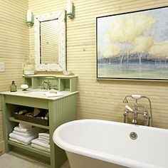 Luxurious Master Bathrooms | Beaded-Board Master Bath | SouthernLiving.com