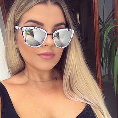 Aussie Girl @makeupby_jaz rocks the My Girl Marble (only available on @asos ) #quayaustralia #sunglasses #asos #quaysquad #love