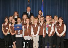 "Congratulations Troop 25596! They received the ""Star of the North"" from Congressman John Kline for their work gathering food for those in need."