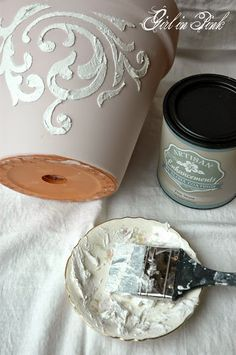 Girl in Pink: How to Create Beautiful Finishes on Flower Pots and Seal Them for Outdoor Use!
