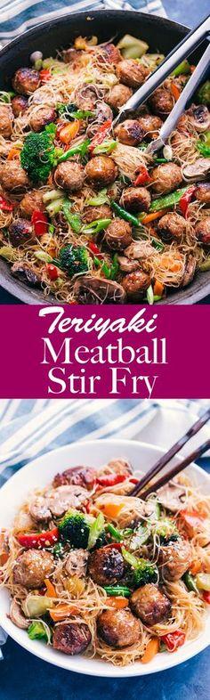 Teriyaki Meatball Stir Fry - The Food Cafe