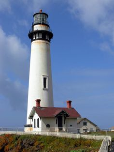 Pigeon Point Lighthouse, CA is one of the tallest lighthouses in the western US.