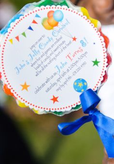André Winfrye Events Real Birthday Party: John's Jolly Candy Carnival. Custom made invitation