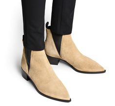Pretty Boots - nude x suede x black x ankle boots x acne