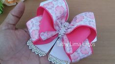 Diy Bow, Diy Ribbon, Ribbon Hair, Ribbon Bows, Kanzashi Tutorial, Hair Bow Tutorial, Baby Hair Bows, Boutique Hair Bows, Making Hair Bows
