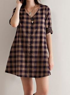 83fe0649706f0 Mocha   Navy Plaid Top – Sisterly Chic Boutique Print Button