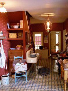 Pat's miniatures - Proctor Homestead. nice kitchen setup.