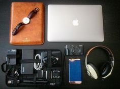 It's already been 2 months since I've travelled anywhere. I'm starting to get antsy. Where to next? #travel #whatsinmybag #setup #travelessentials | Scotch & Soda iPad Leather Case | #scotchandsoda | GripIt Organizer | #gripit | MacBook Air 13"
