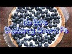 No Bake Blueberry Cream Pie with Graham Cracker Crust is a taste of summer you won't forget. Best served chilled, this pie filling is rich, creamy, and fruit. Blueberry Crumble Pie, Blueberry Cream Pies, Pie Crumble, Blueberry Cheesecake, Blueberry Recipes, Creamy Cheesecake Recipe, Cheesecake Recipes, Dessert Recipes, Graham Cracker Crust