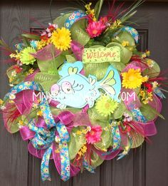 Bright Colored Whimsical Welcome Fish Summer Deco by MNYDesigns, $105.00