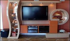 modern tv fireplace entertainment center | Modern Wall Unit TV Media ...