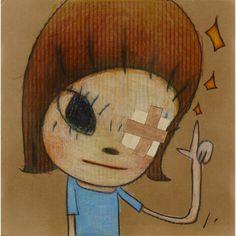 Magical Left Hand / Little Stars, 2014 by Yoshitomo Nara Art Inspo, Kunst Inspo, Pretty Art, Cute Art, Aya Takano, Japanese Contemporary Art, Yoshitomo Nara, Superflat, Funky Art