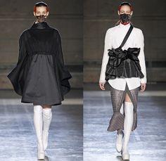Masha Ma 2014-2015 Fall Autumn Winter Womens Runway Looks - Paris France Catwalk Fashion Show - Samurai Kimono Robe Wrap Layers Ruffles Drap...