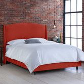 Found it at AllModern - Nail Button Linen Wingback Bed
