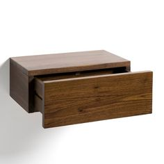 Otra imagen de Mesita de noche-cajón de nogal macizo, Vesper AM.PM.
