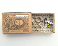 Tiny Bee in a Matchbox paper sculpture by Kasasagi on Etsy