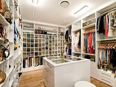 What A Great Closet. Love The Glass Top For Eyeing Jewelry In Cubbies Below