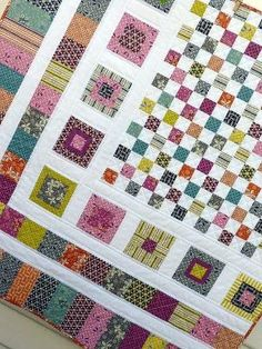 """Bricks and Stones"" quilt posted to Flickr by Red Pepper Quilts by gena"