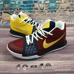 e5998772c0e4 purchase nike kyrie 3 cavalier elizabeth dre derick burgundy yellow  basketball shoes jumpman23 hypebeast kicksonfire kicksoftheday