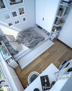 25 Beautiful Small Apartment Bedroom College Design Ideas And Decor. If you are looking for Small Apartment Bedroom College Design Ideas And Decor, You come to the right place. Tiny Bedroom Design, Small Room Design, Home Room Design, Kids Room Design, House Design, Small Apartment Interior Design, Small Bedroom Interior, Studio Design, Small Apartment Bedrooms