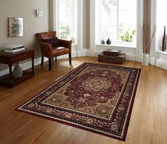 Burgundy Traditional Rugs   Area Rugs   Discount Rugs - Bargain Area Rugs