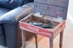 Up-cycled / Repurposed Coca Cola Crate- End or Sid