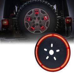 Xprite 14 inch Cyclone Series Spare Tire LED Brake Light For Jeep Wrangler Jeep Wranglers, Jeep Wrangler Parts, 2017 Jeep Wrangler, Jeep Parts, Jeep Jk, Jeep Wrangler Accessories, Jeep Accessories, Automobile, Custom Jeep