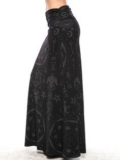 KILLSTAR Occult Maxi Skirt.